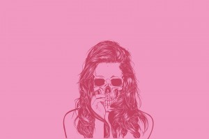 skull wallpapers cool girl pink