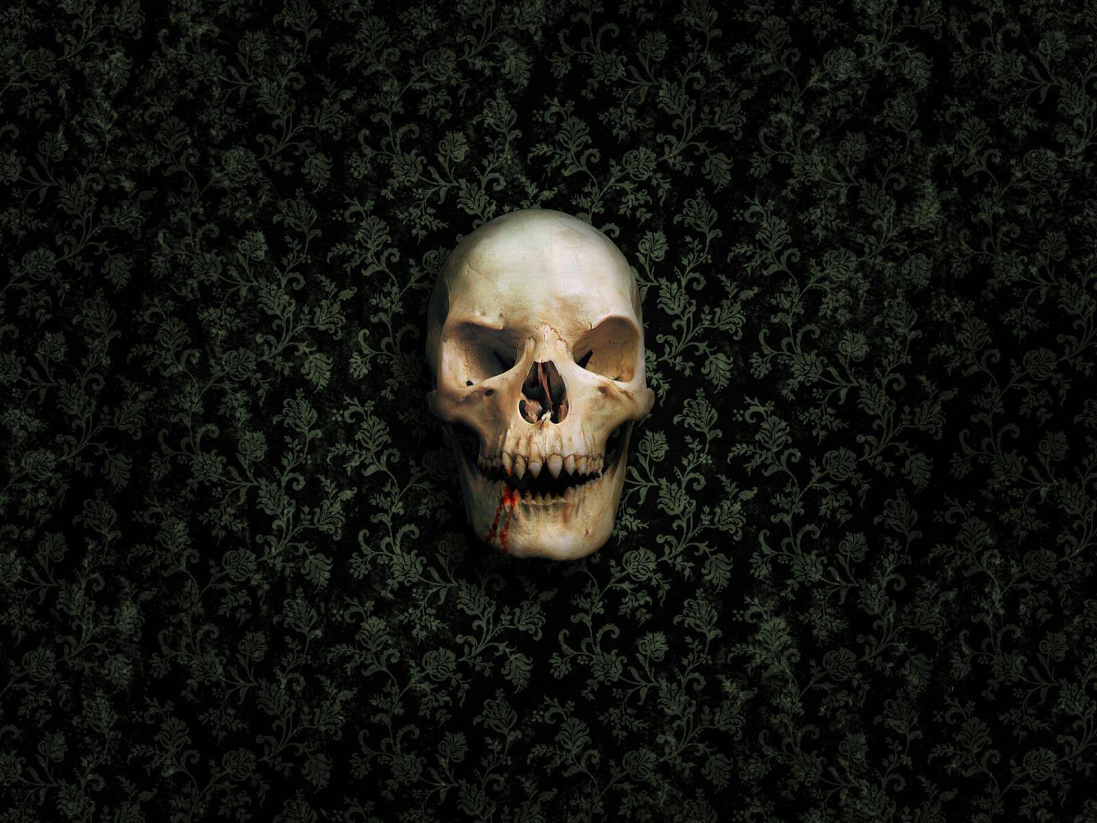 skull wallpapers green