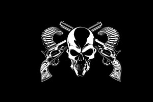 skull wallpapers gun