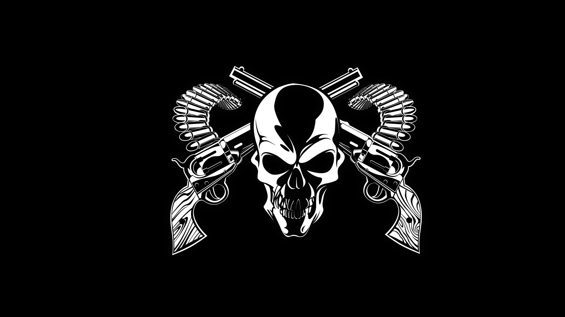 skull wallpapers gun. ««