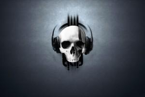 skull wallpapers headset