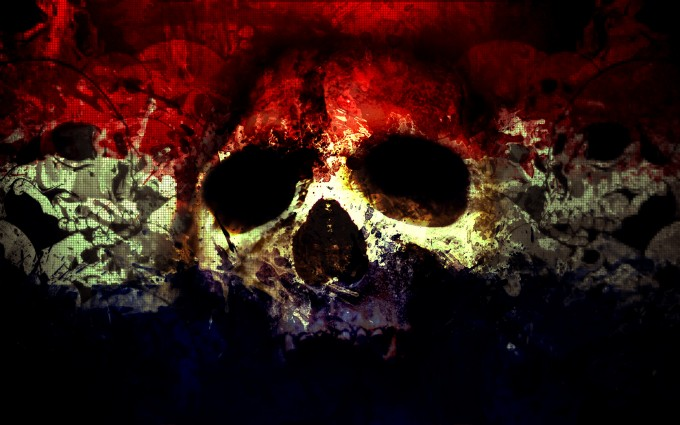 skull wallpapers red