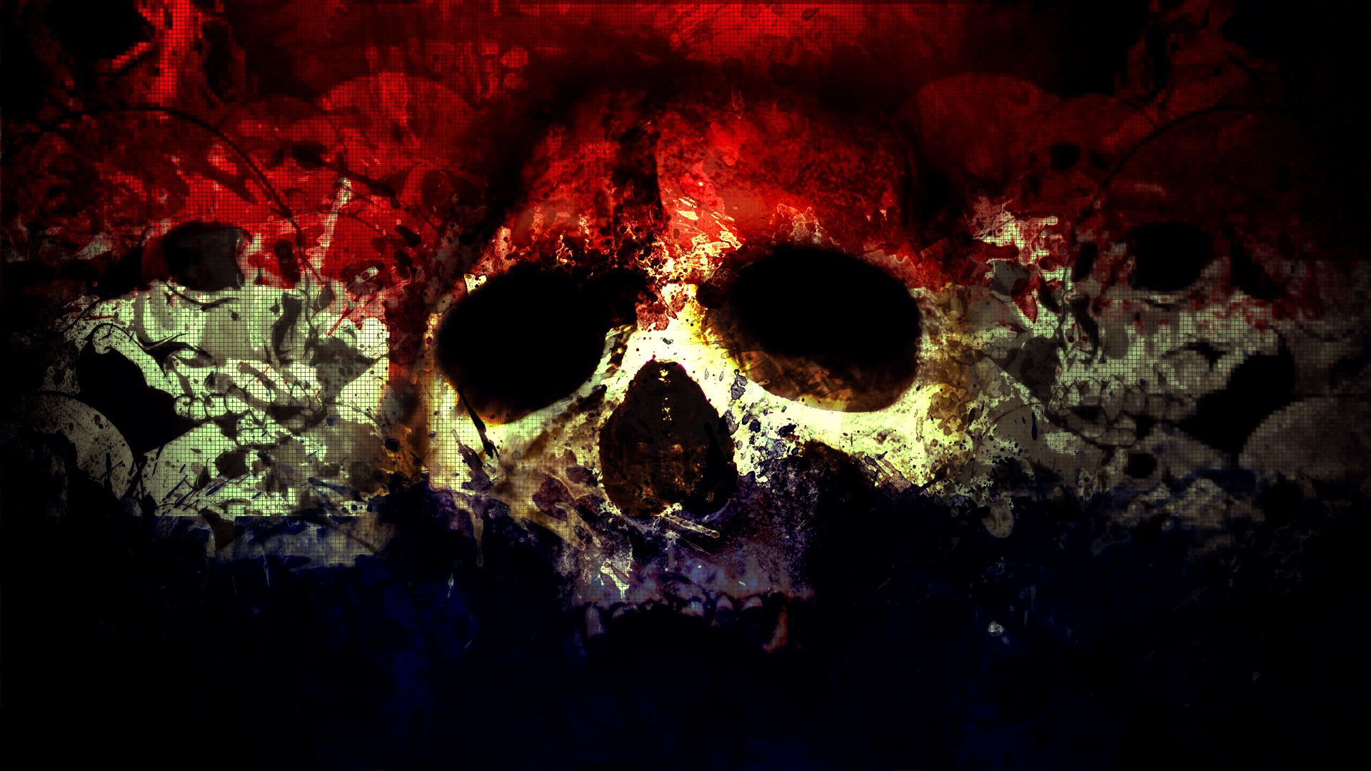 skull wallpapers red - hd desktop wallpapers | 4k hd