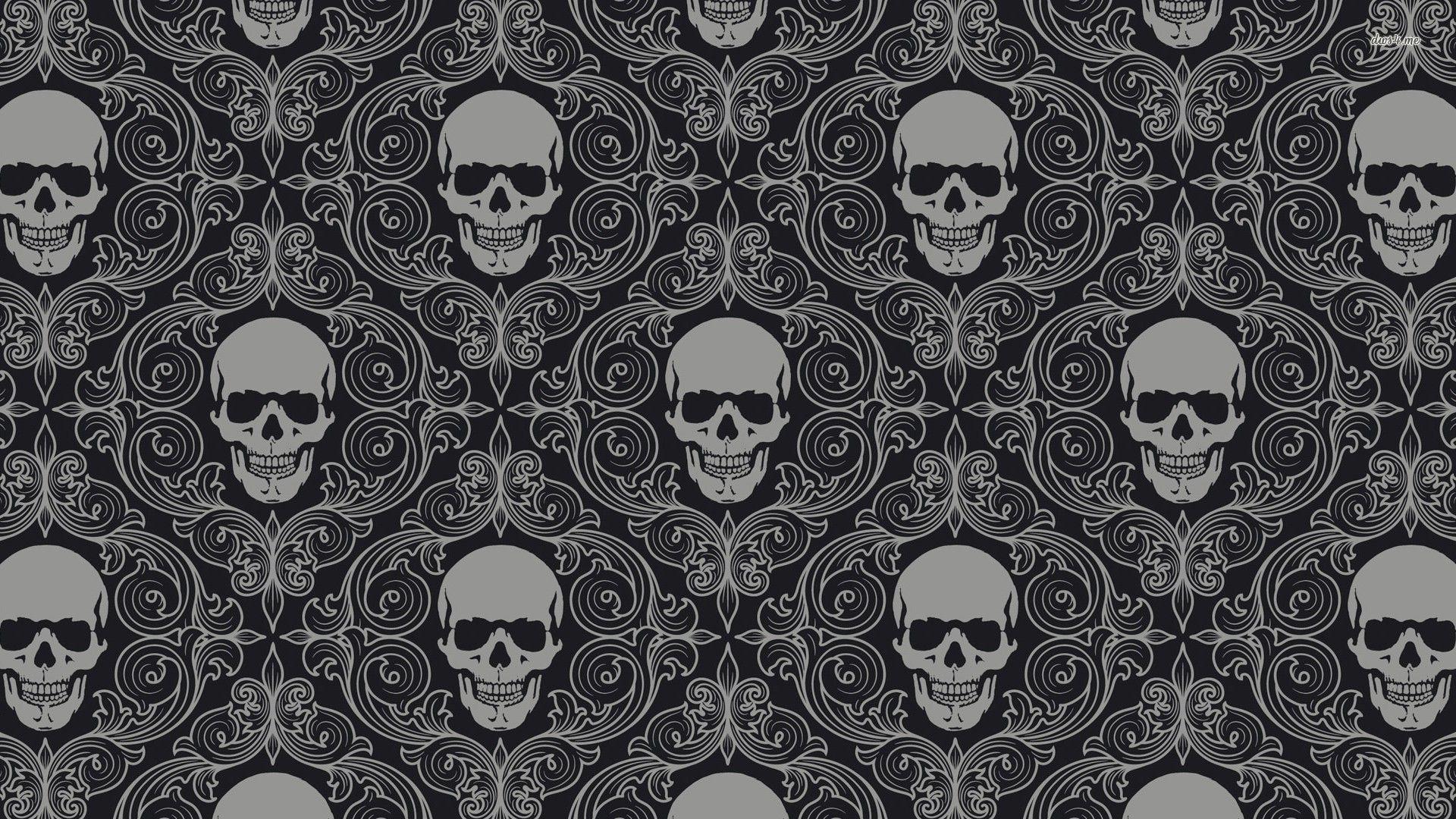 skull wallpapers widescreen