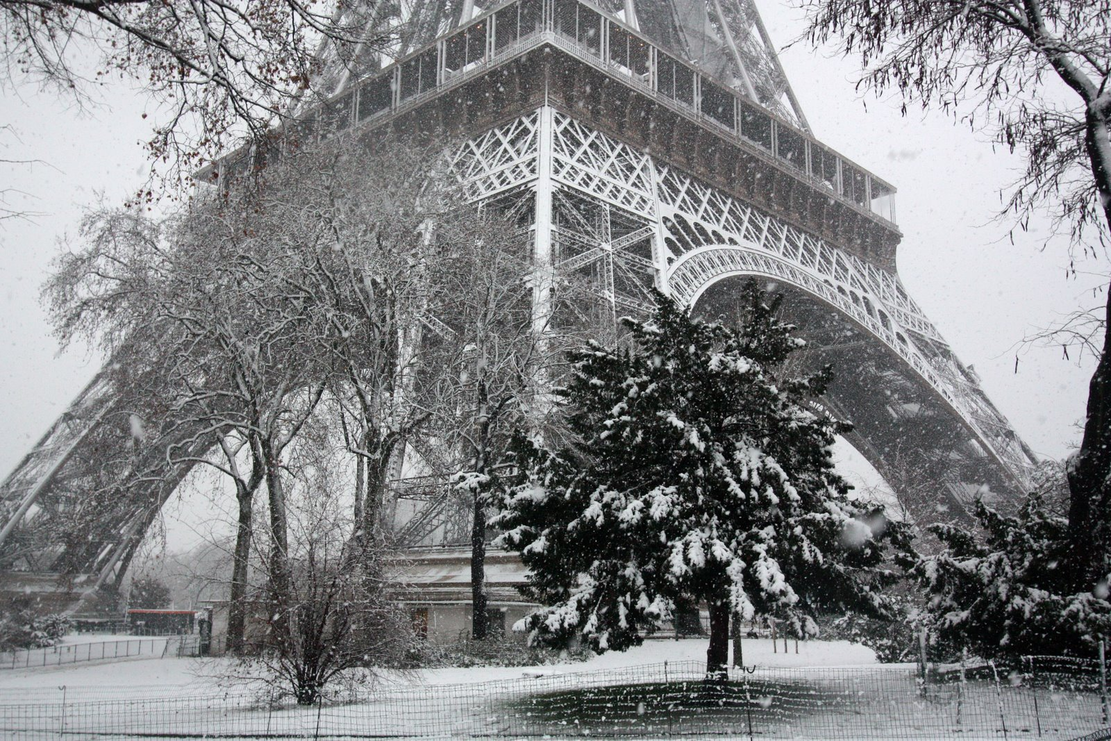 snow falling wallpaper paris