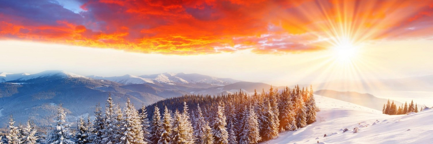 Snow Scene Wallpaper Sunset - HD Desktop Wallpapers