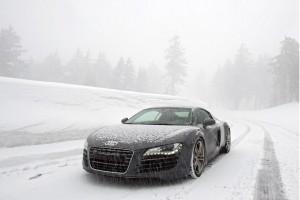snow wallpaper audi