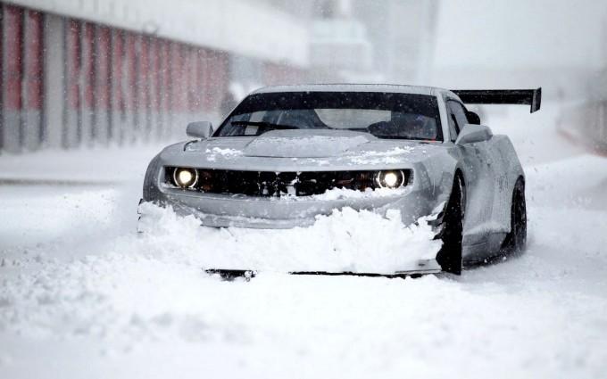 snow wallpaper camaro
