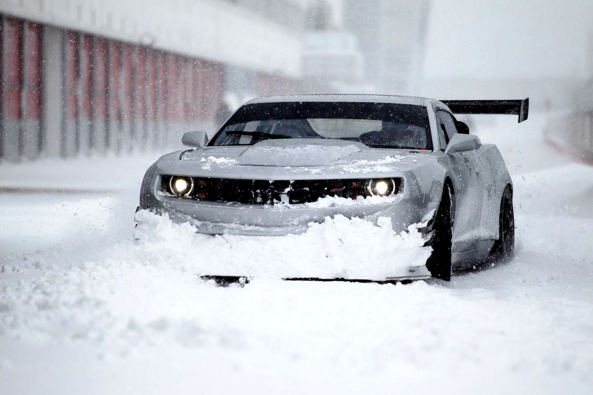snow wallpaper camaro
