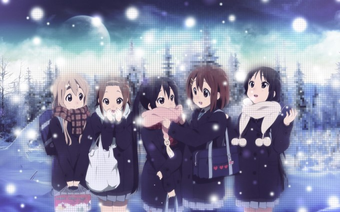snow wallpaper girls
