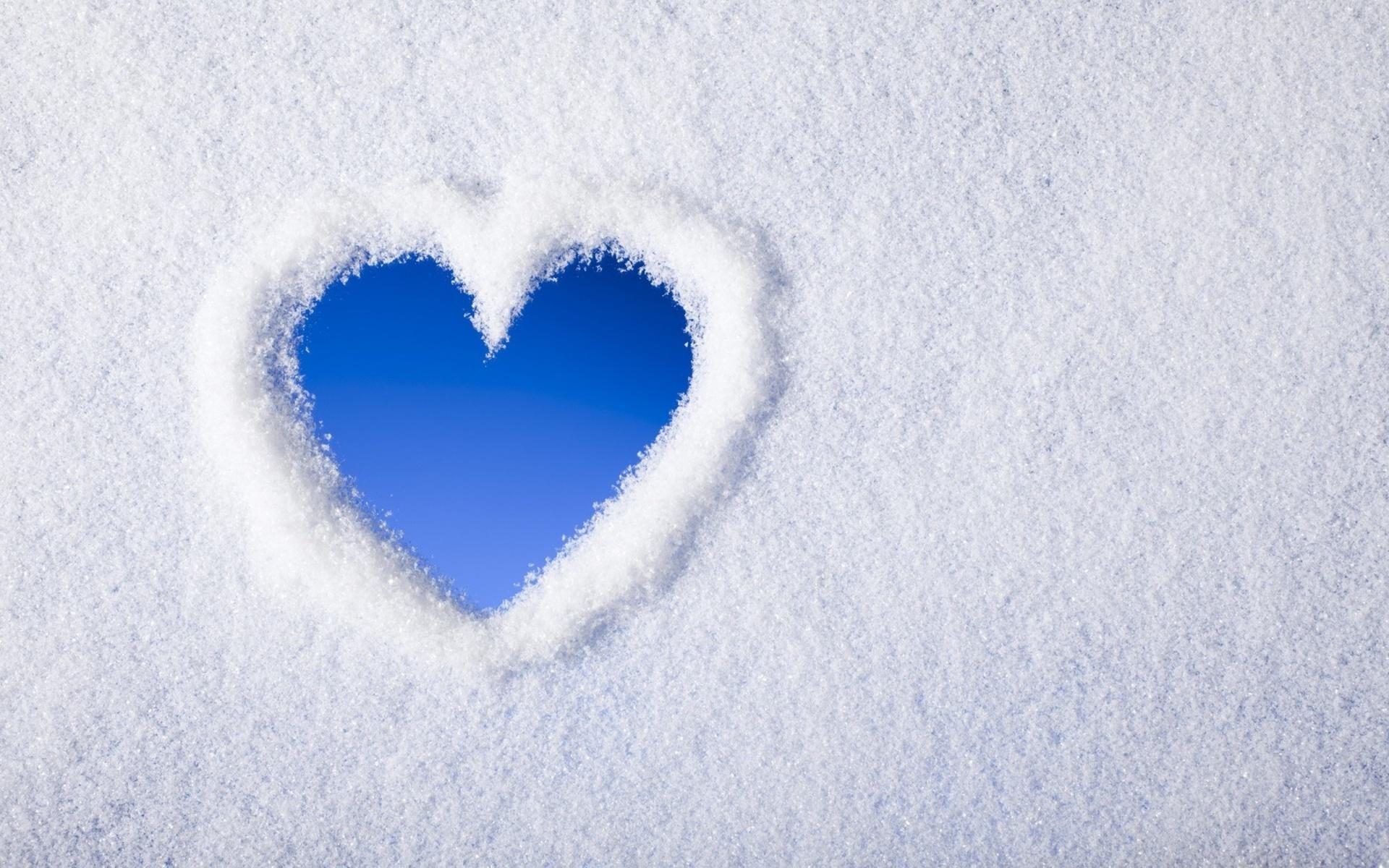 snow wallpaper heart