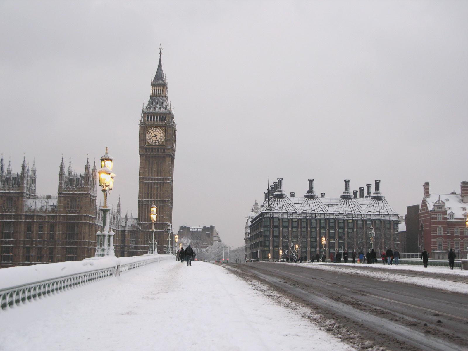 snow wallpaper london