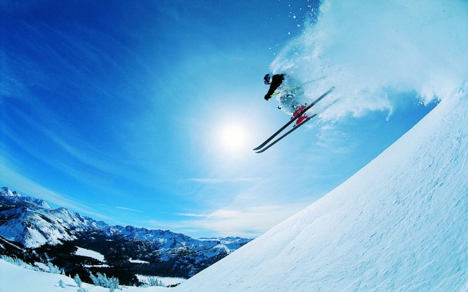 snow wallpaper skiing