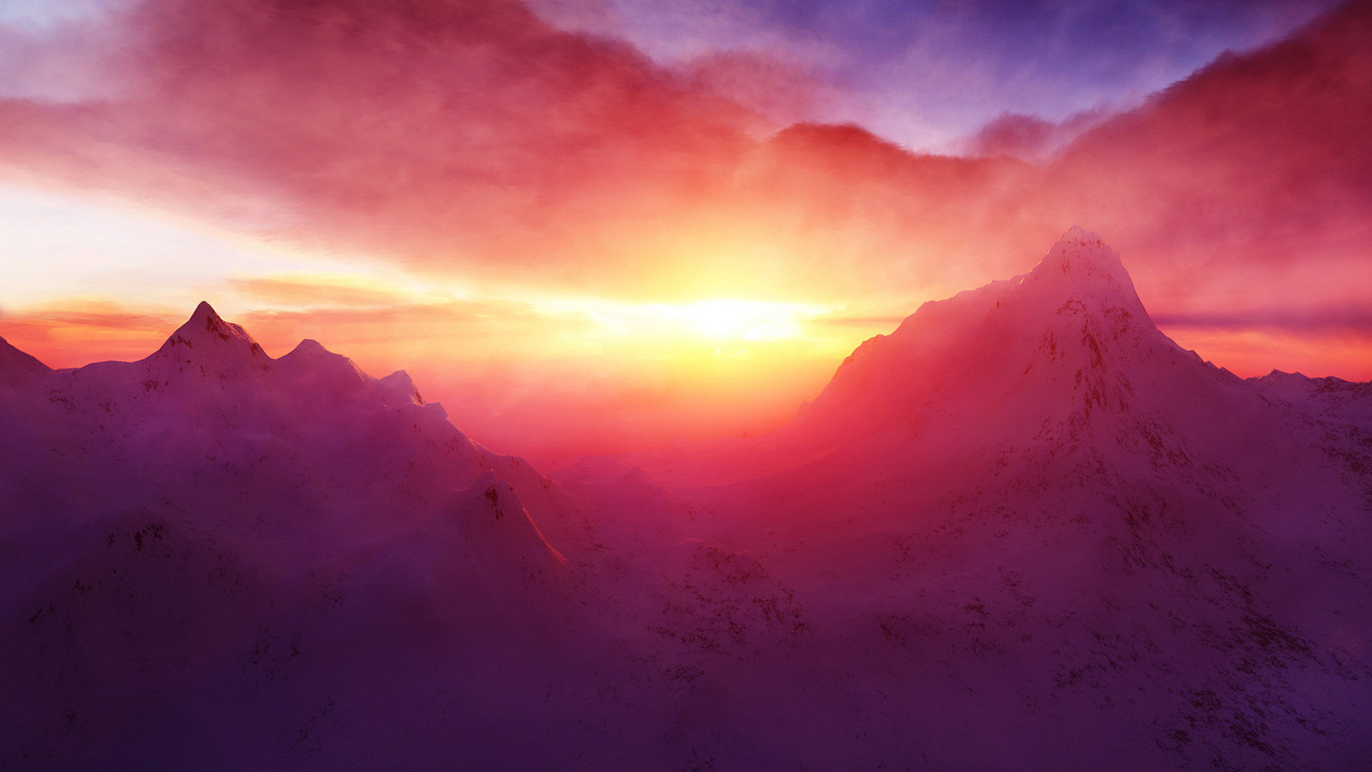 snow wallpaper sunset beautiful