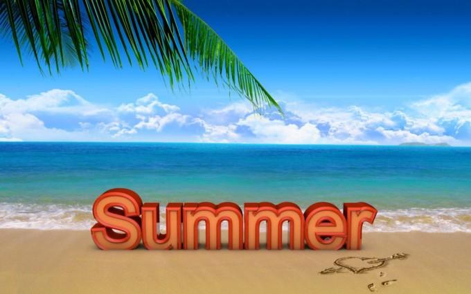 summer wallpapers text