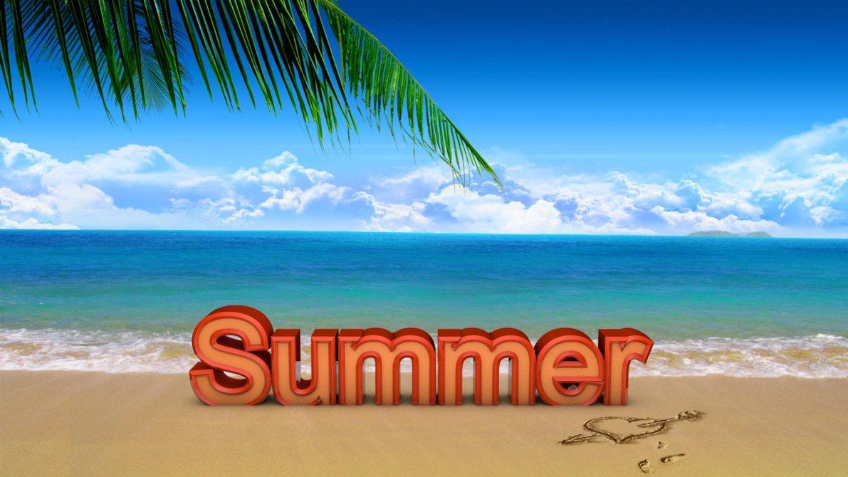 Summer Beach Scene 4k Hd Desktop Wallpaper For 4k Ultra Hd: Summer Wallpapers Text - HD Desktop Wallpapers