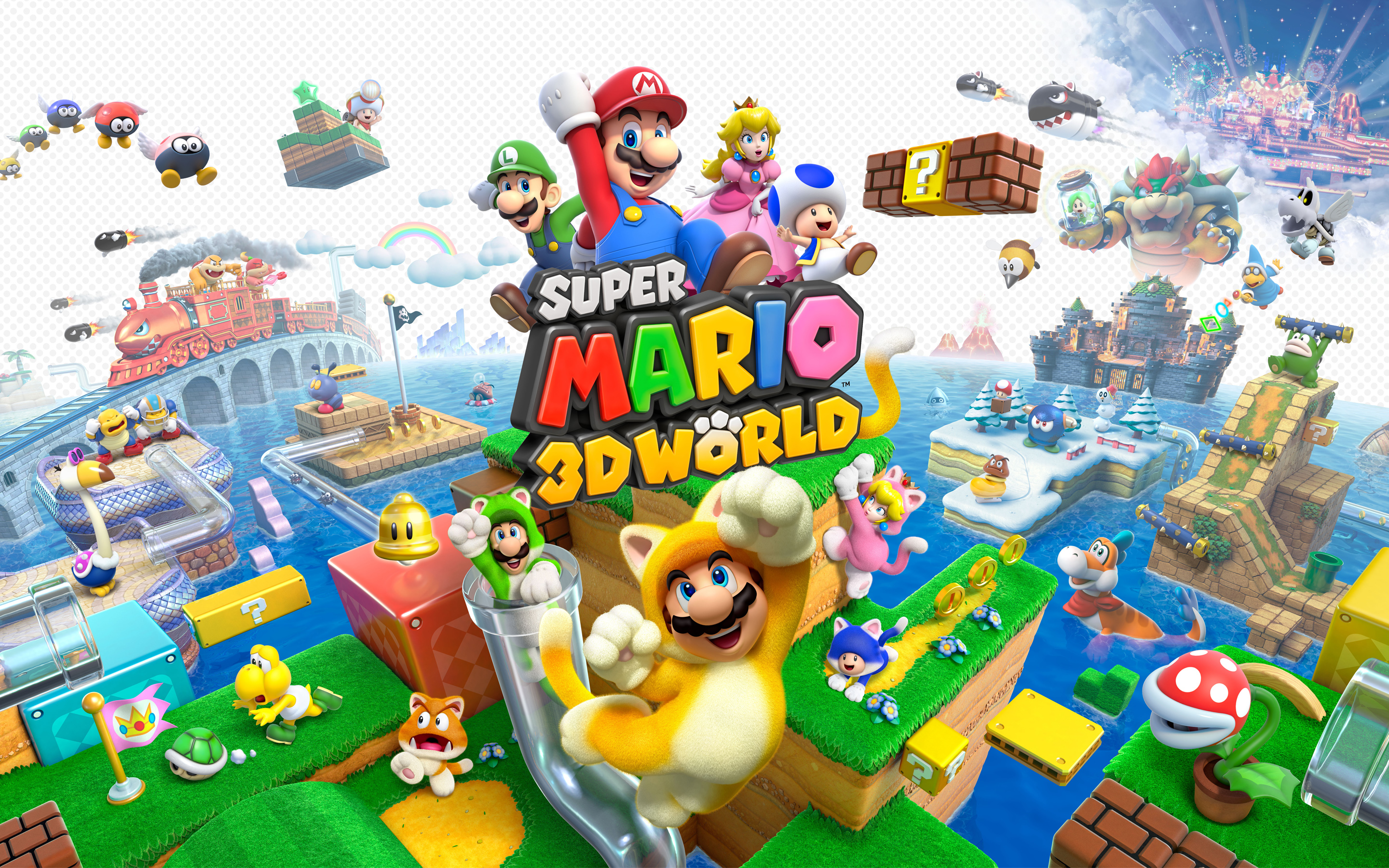 super mario world wallpaper 3d