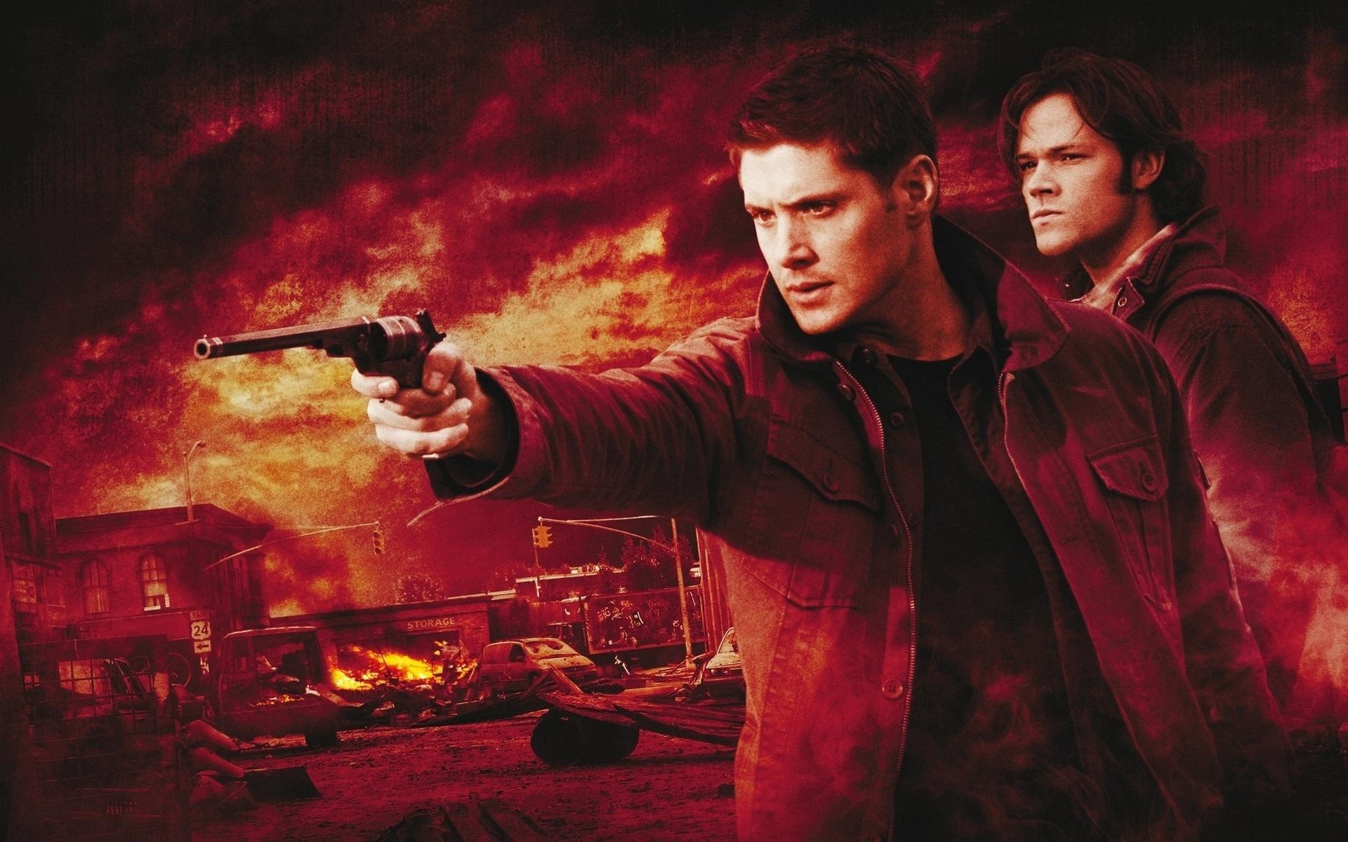 supernatural wallpapers gun