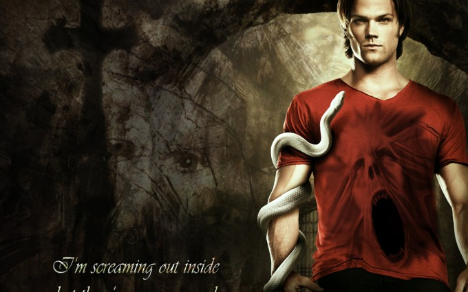 supernatural wallpapers red shirt