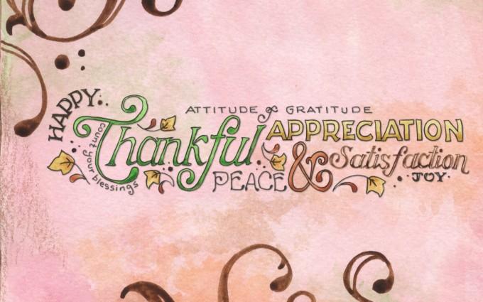 thanksgiving wallpapers pink