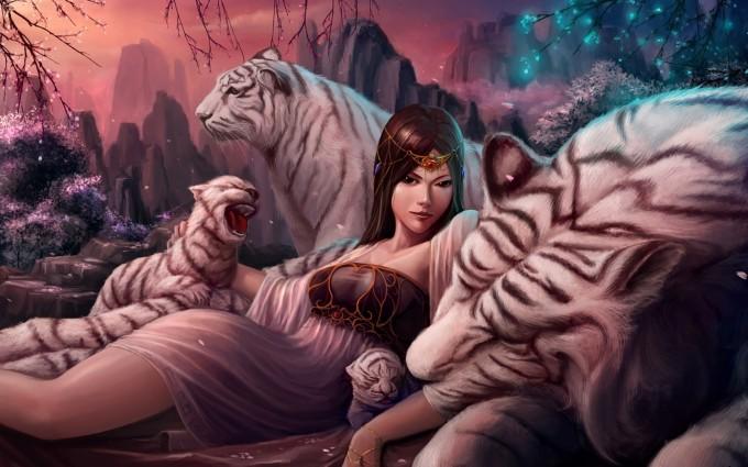 tiger desktop wallpaper anime