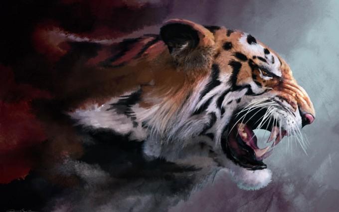 tiger wallpaper chilling