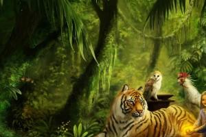 tiger wallpaper creative
