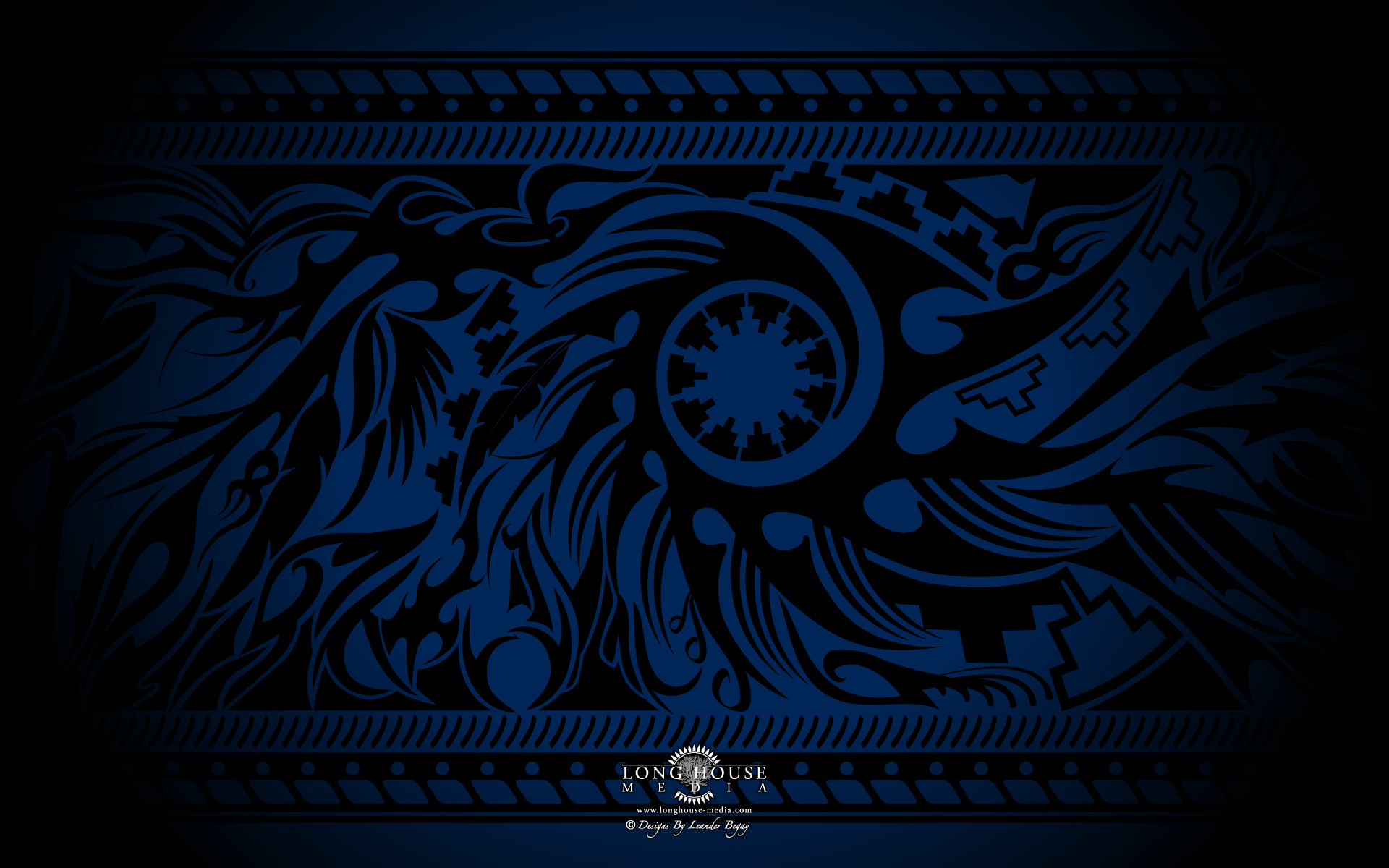 tribal wallpapers blue
