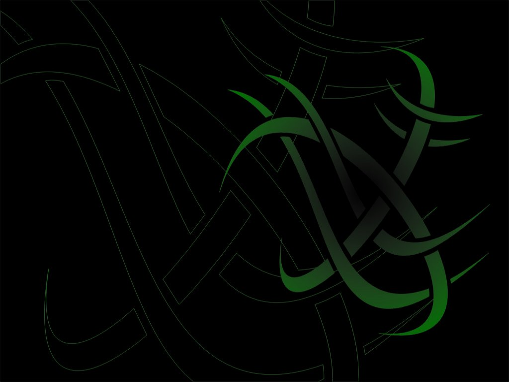 tribal wallpapers green