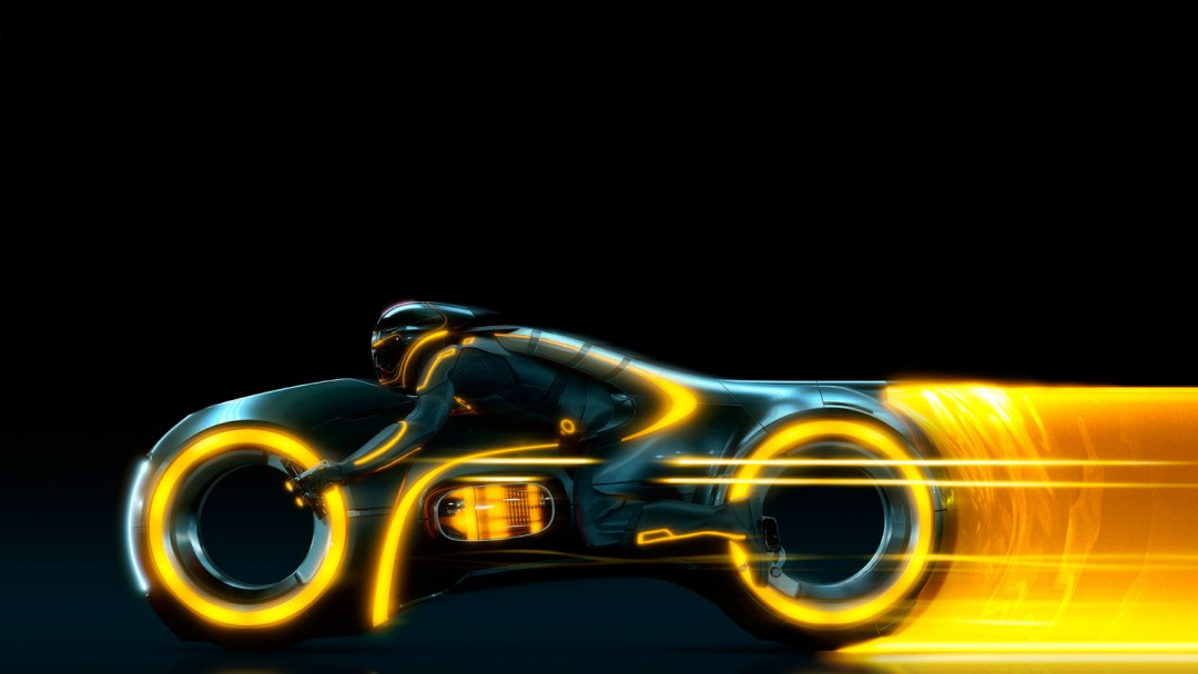 Wallpaper 3d Bike Tron Legacy Download: Tron Wallpapers Orange Bike - HD Desktop Wallpapers