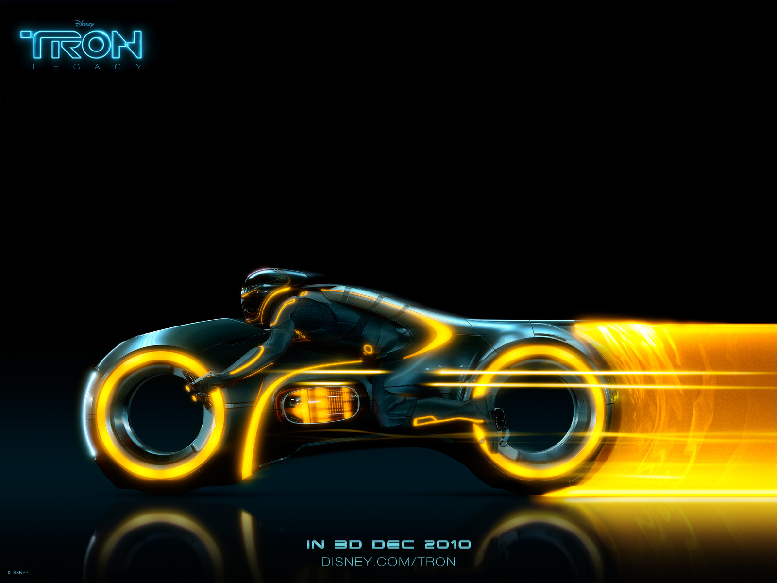 tron wallpapers orange bike