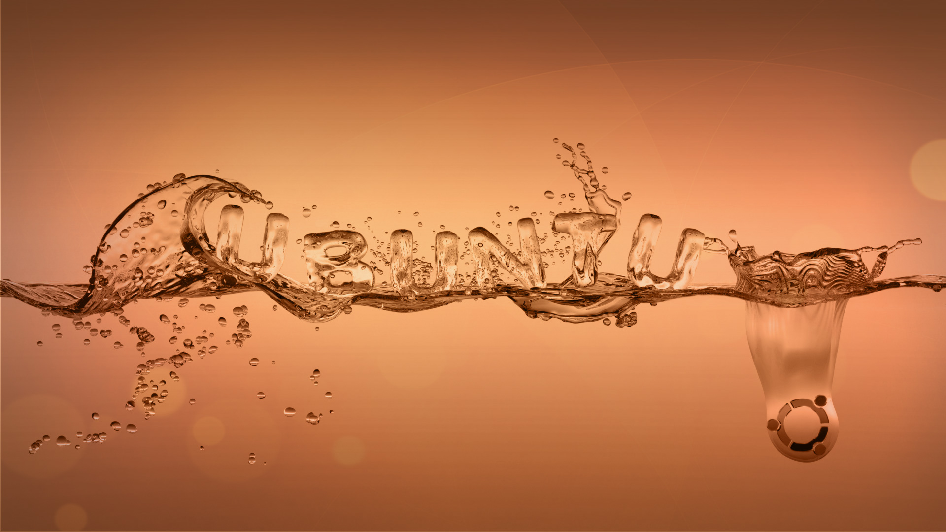ubuntu wallpaper water