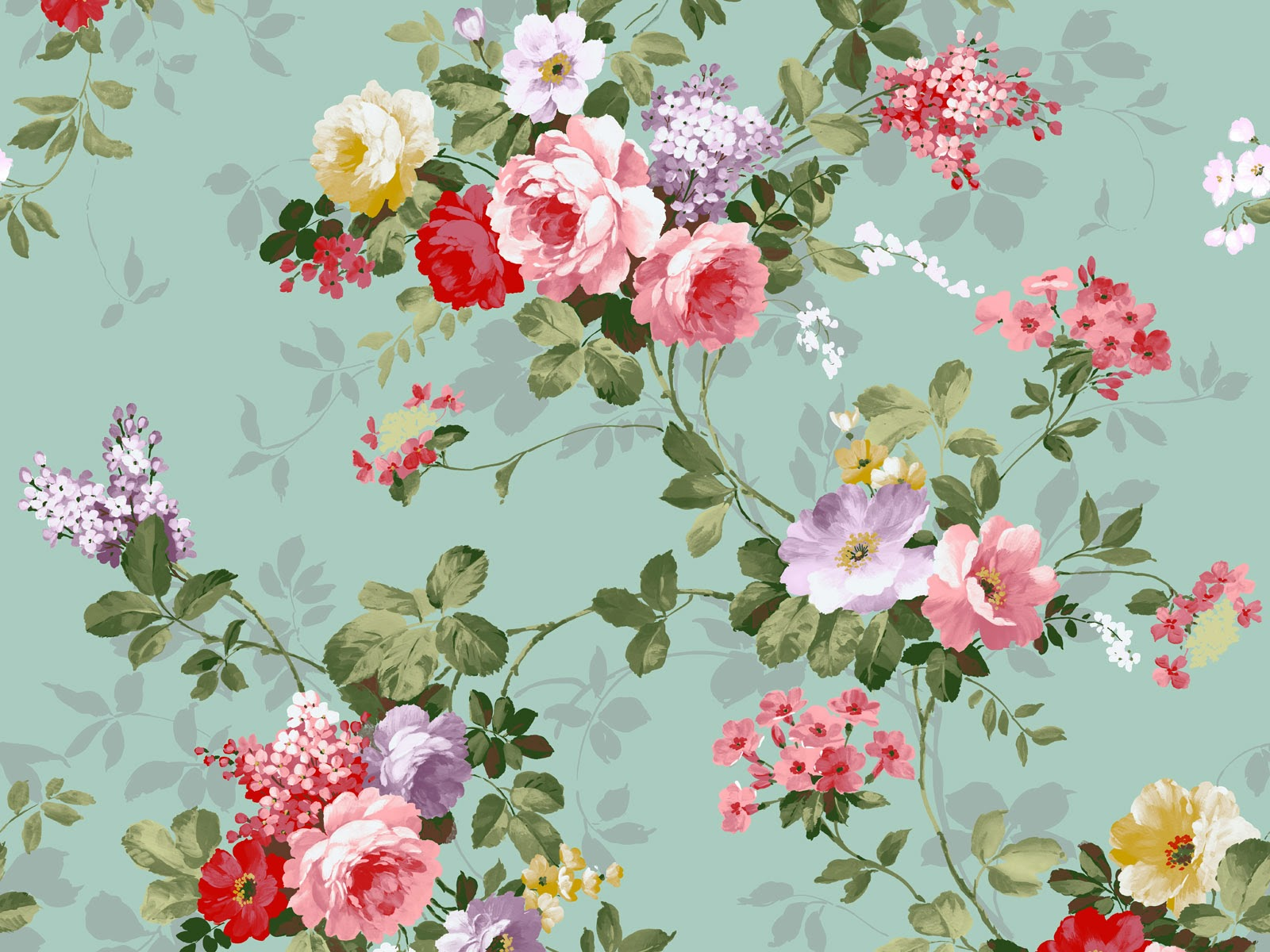 vintage floral wallpaper aa