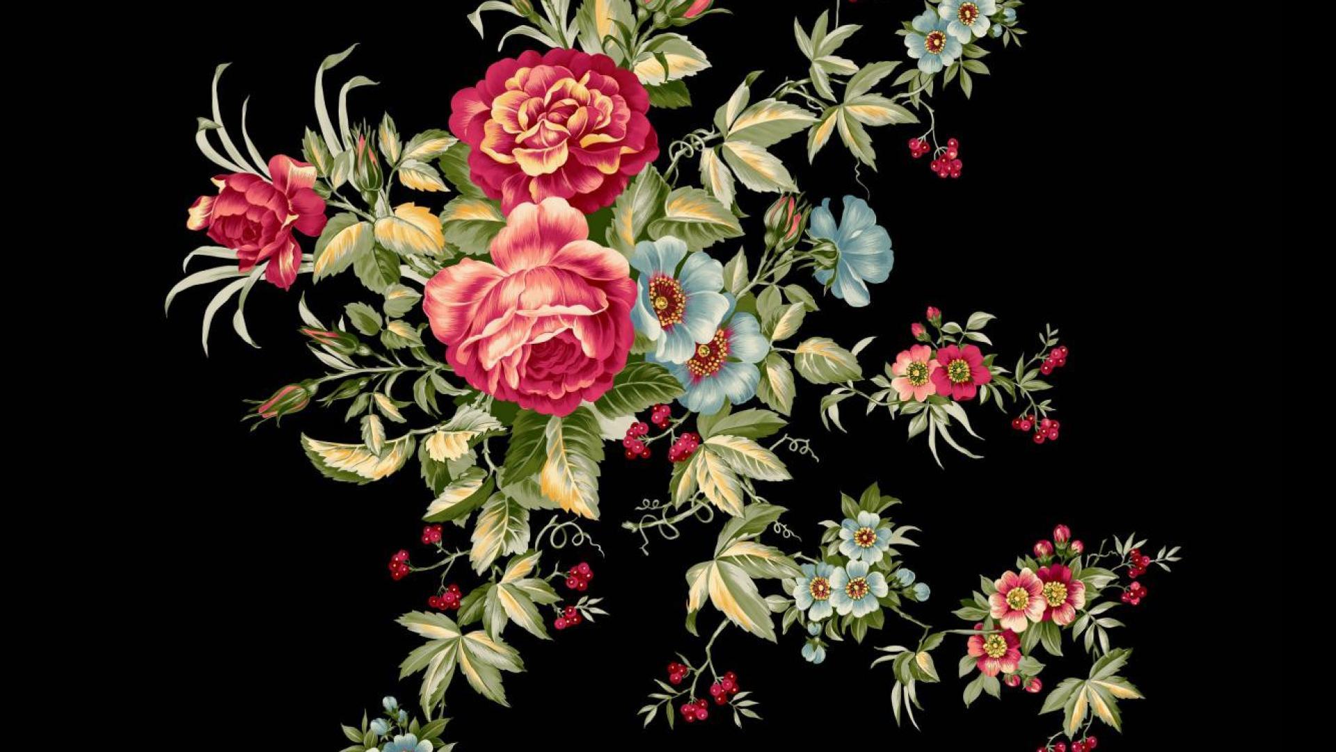 Vintage Rose Wallpaper  eBay