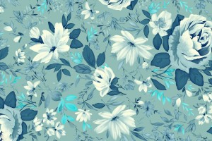 vintage wallpaper floral blue