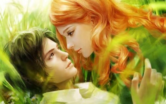 wallpaper of love kiss nature fantasy