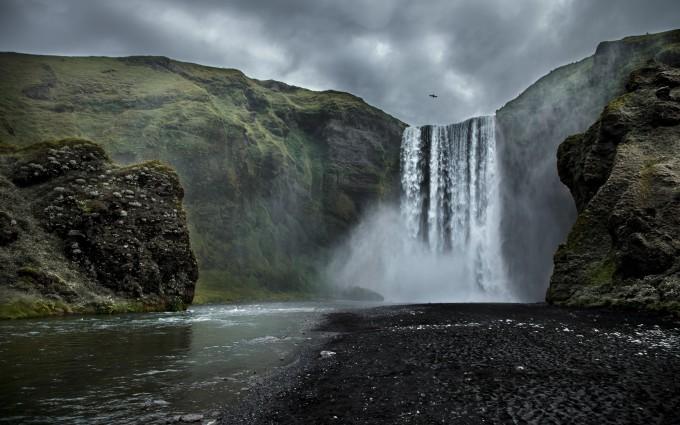 wallpaper waterfall