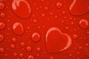 water wallpaper hearts