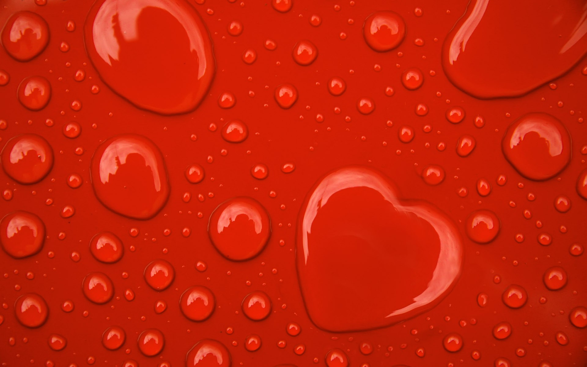 water wallpaper hearts