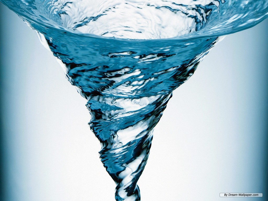 water wallpaper vortex