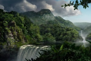 waterfall wallpapers jungle