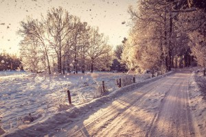 winter wallpapers hd road