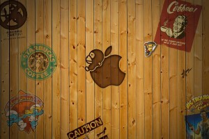 wood wallpaper apple 3d