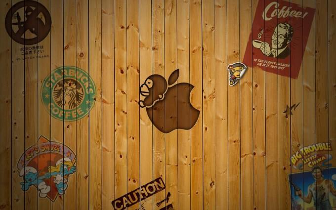 wood wallpaper apple 3d