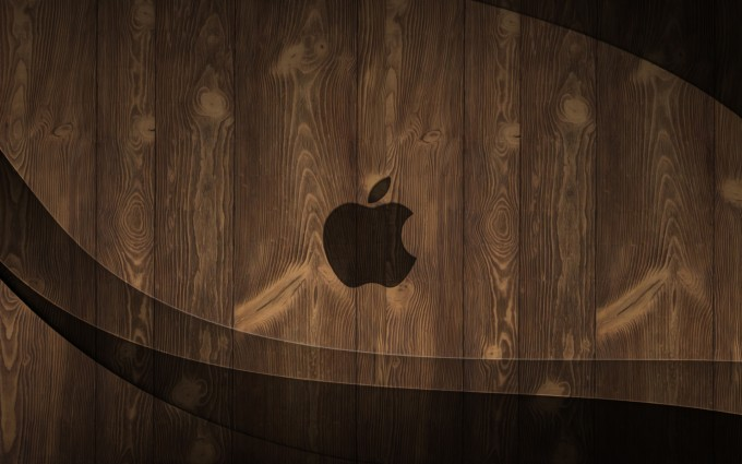 wood wallpaper apple