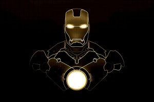 yellow iron man wallpaper