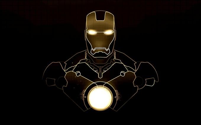 yellow iron man wallpaper