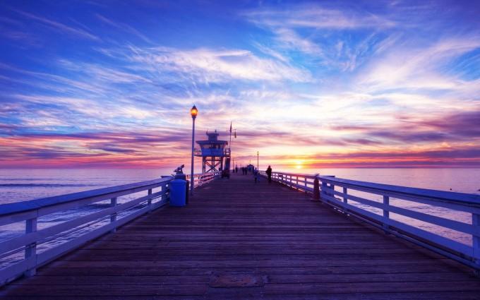 amazing sunset wallpapers bridge