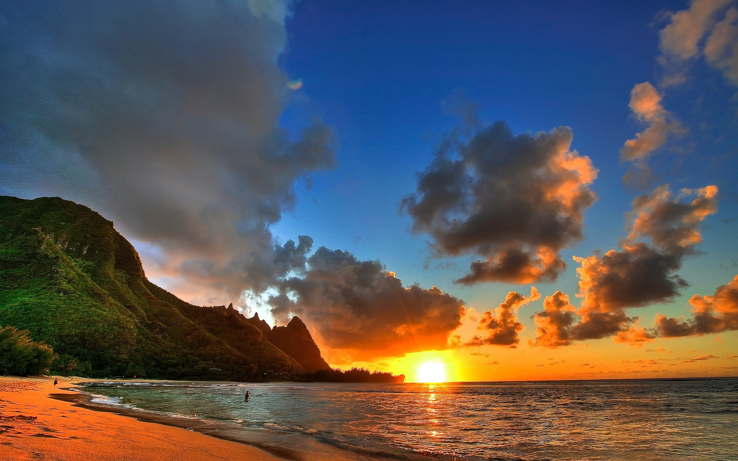 amazing sunset wallpapers hawaii