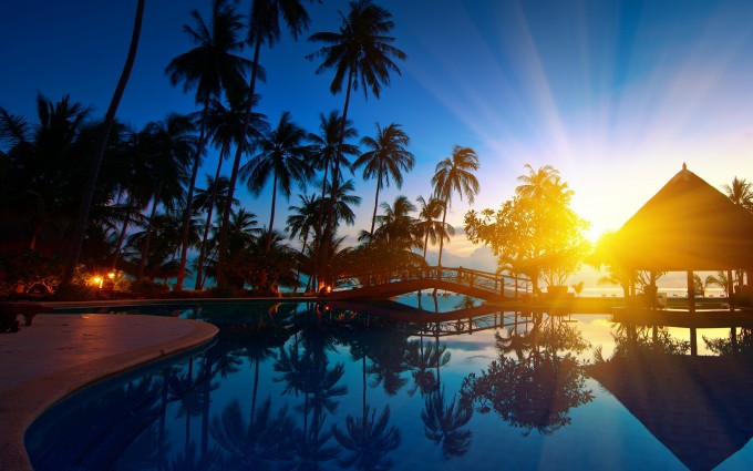 amazing sunset wallpapers resort